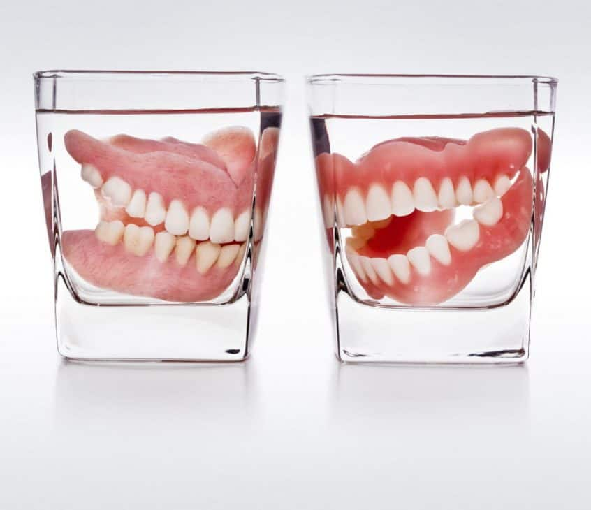 Dentures Being Stored in Water